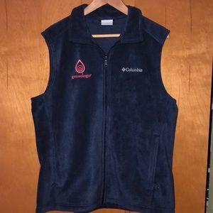 Columbia vest size medium blue